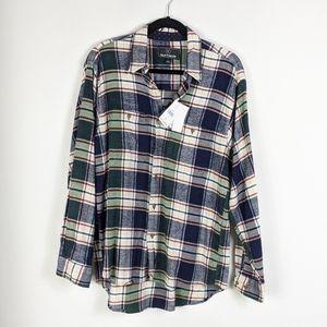 NWT Burnside Plaid Button Down Flannel